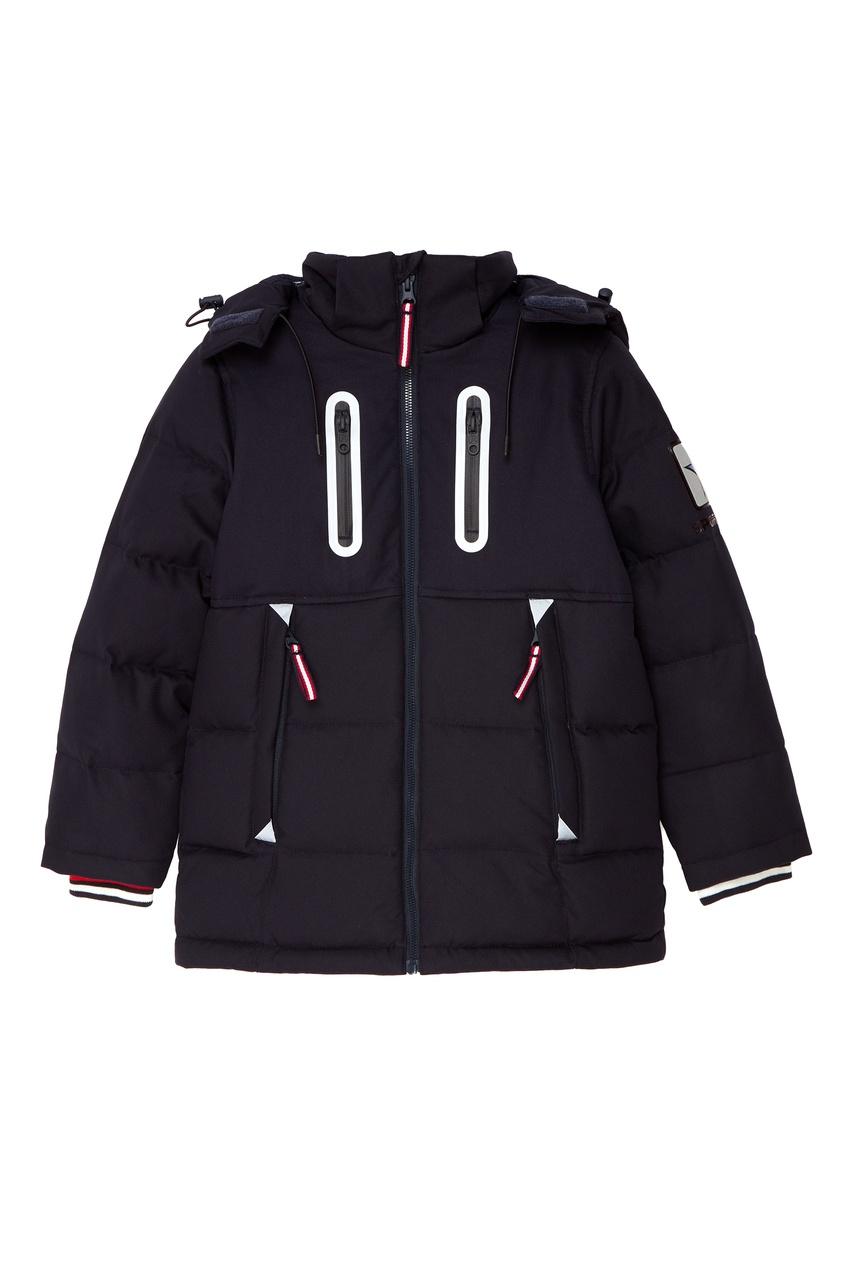 Темно-синяя стеганая куртка Junior Republic
