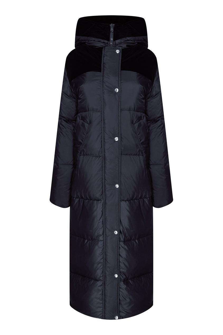 Купить со скидкой Стеганая синяя куртка