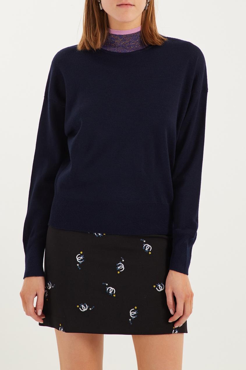 женский свитер sandro, синий