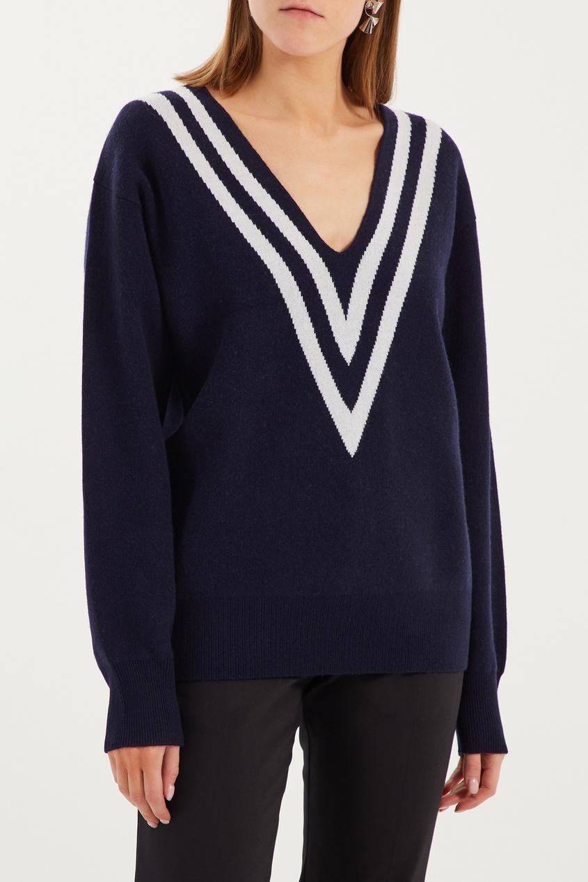 женский пуловер sandro, синий