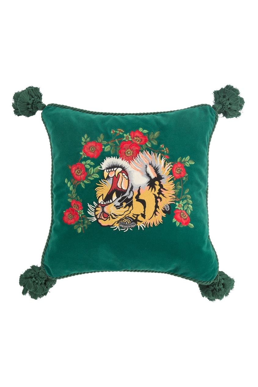 Диванная подушка с головой тигра от Gucci