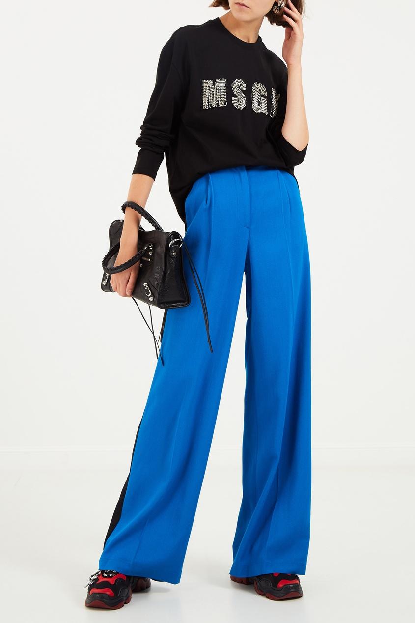 женские брюки msgm, синие