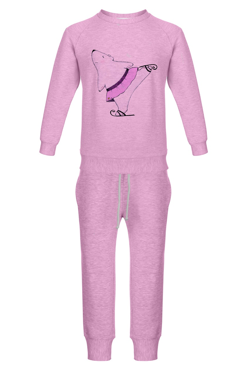 Розовый комплект «Мишка-фигуристка» LISA&LEO