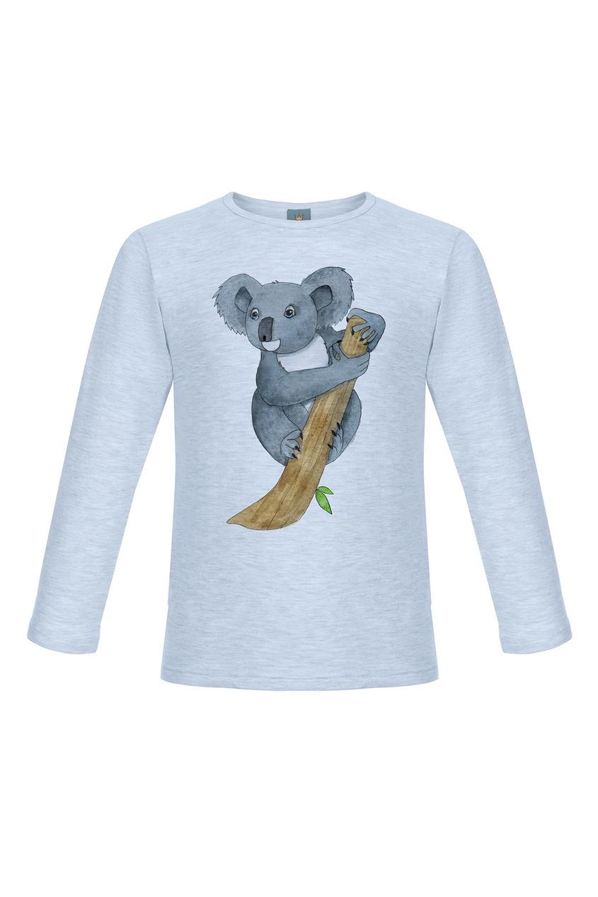Голубой лонгслив с коалой