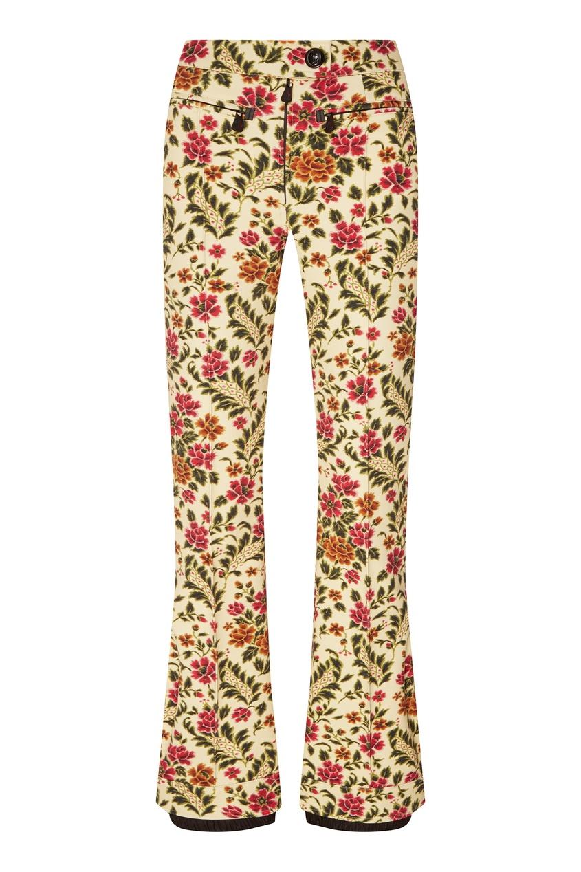 Горнолыжные брюки-клеш с цветочным принтом 3 Moncler Grenoble Moncler