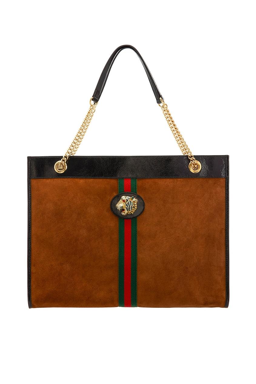 женская сумка gucci, коричневая