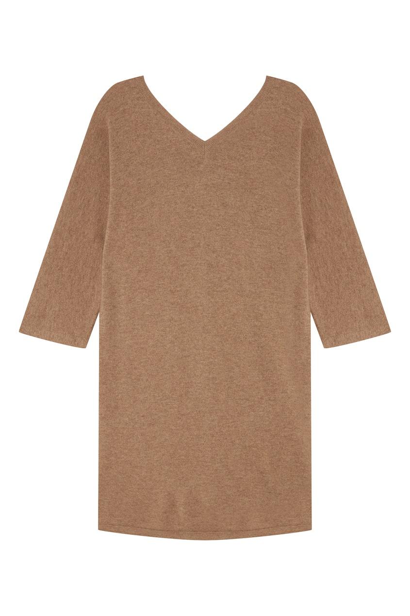 Купить со скидкой Бежевое кашемировое платье