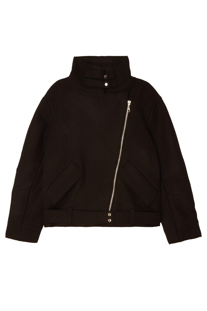 Короткая черная куртка Belka