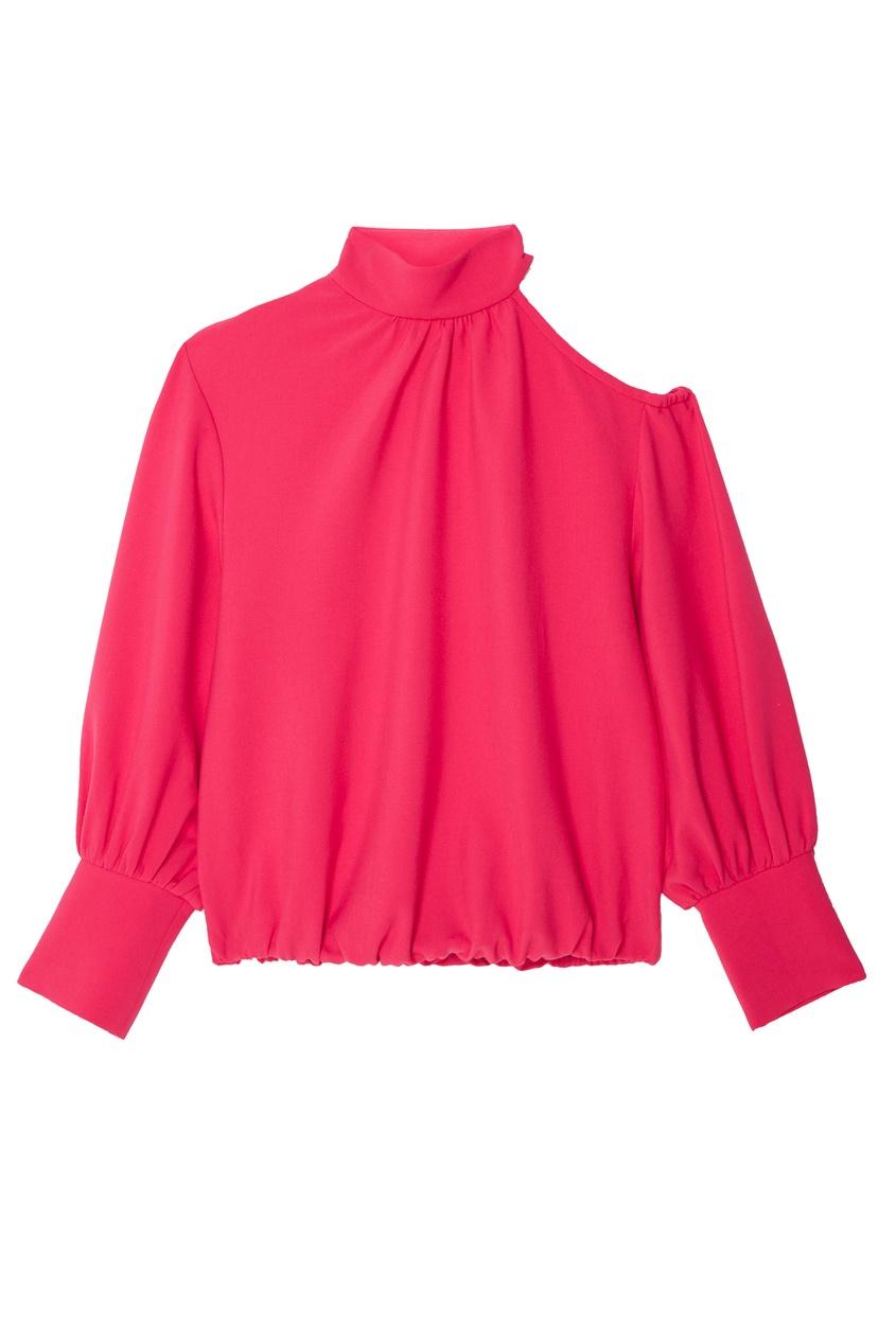 Купить со скидкой Розовая блузка с открытым плечом