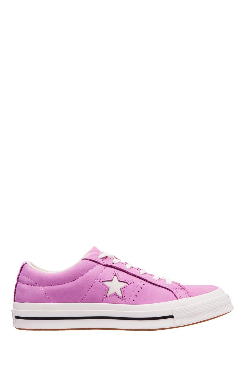 Сиреневые кеды One Star Converse