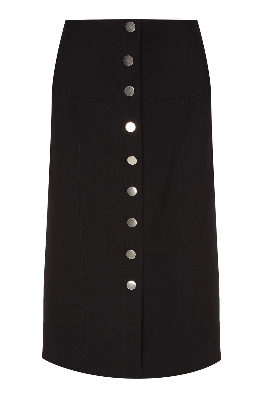 Черная юбка-карандаш на пуговицах Proenza Schouler