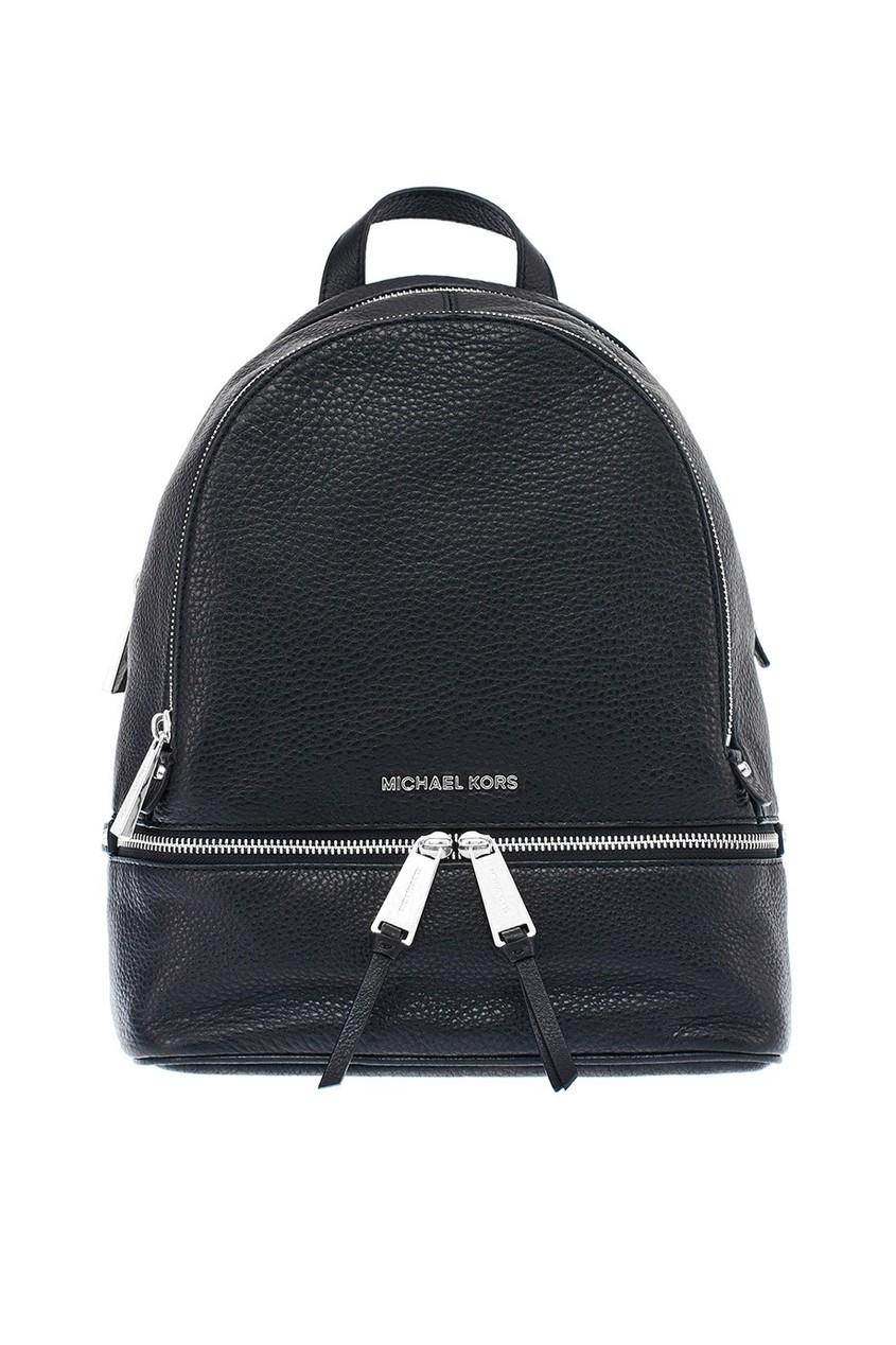 женский кожаные рюкзак michael kors, черный