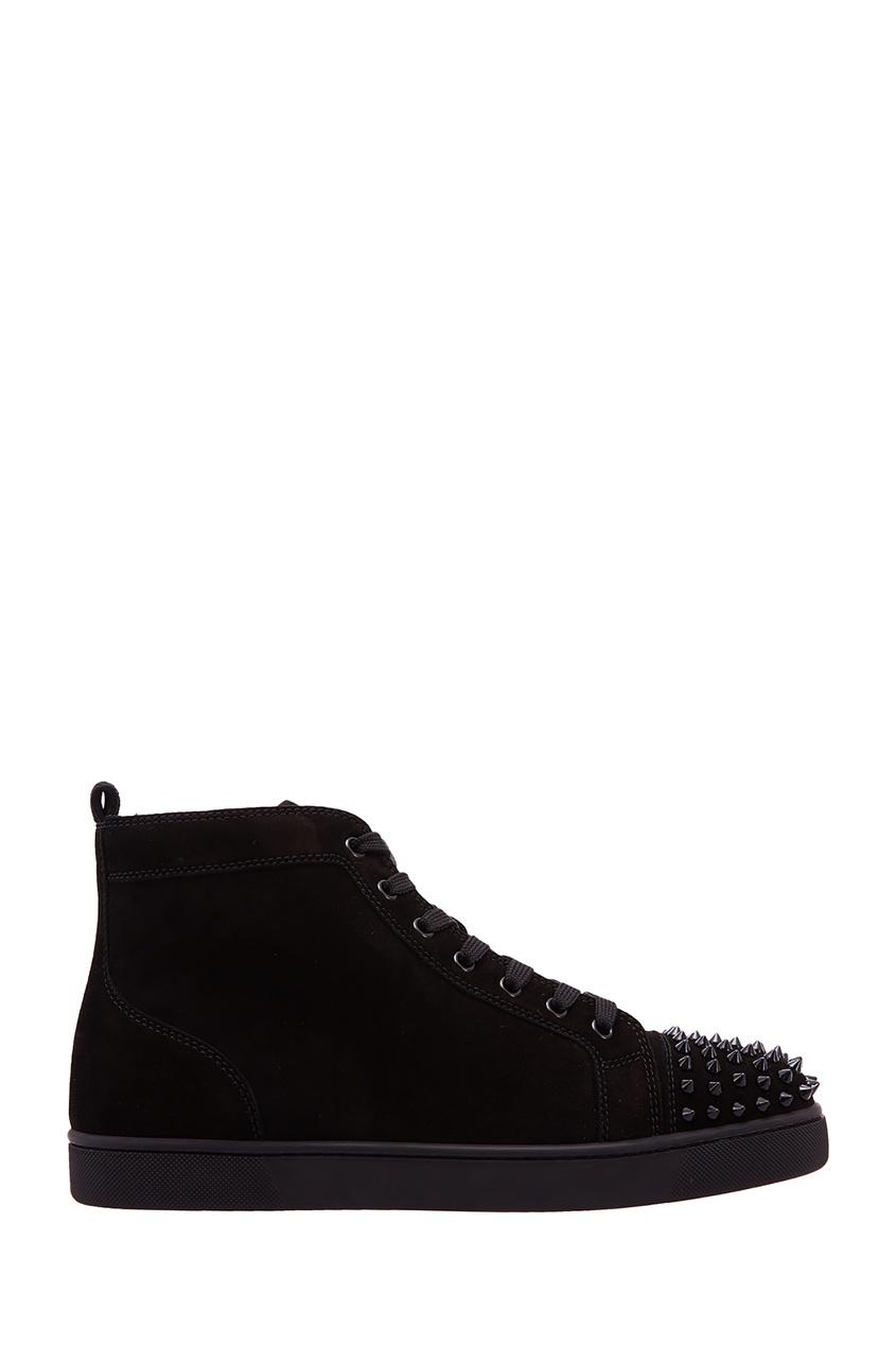 мужские кроссовки christian louboutin, черные