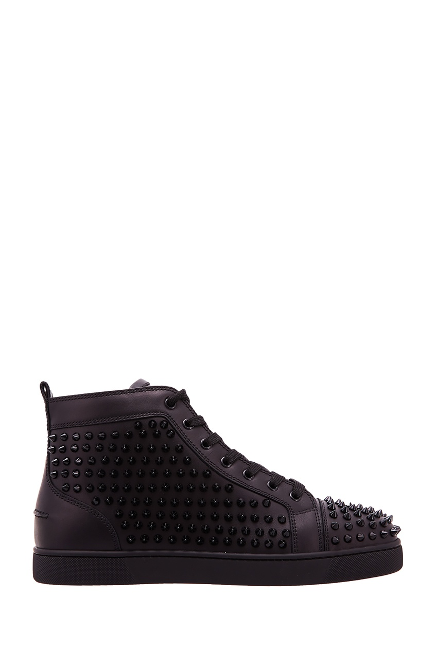 Черные кроссовки Louis Spikes Christian Louboutin