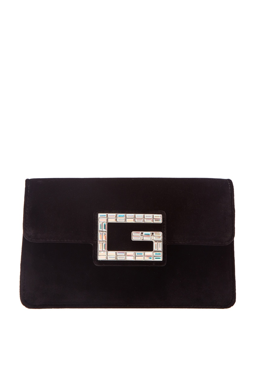 Сумка с логотипом из кристаллов Gucci