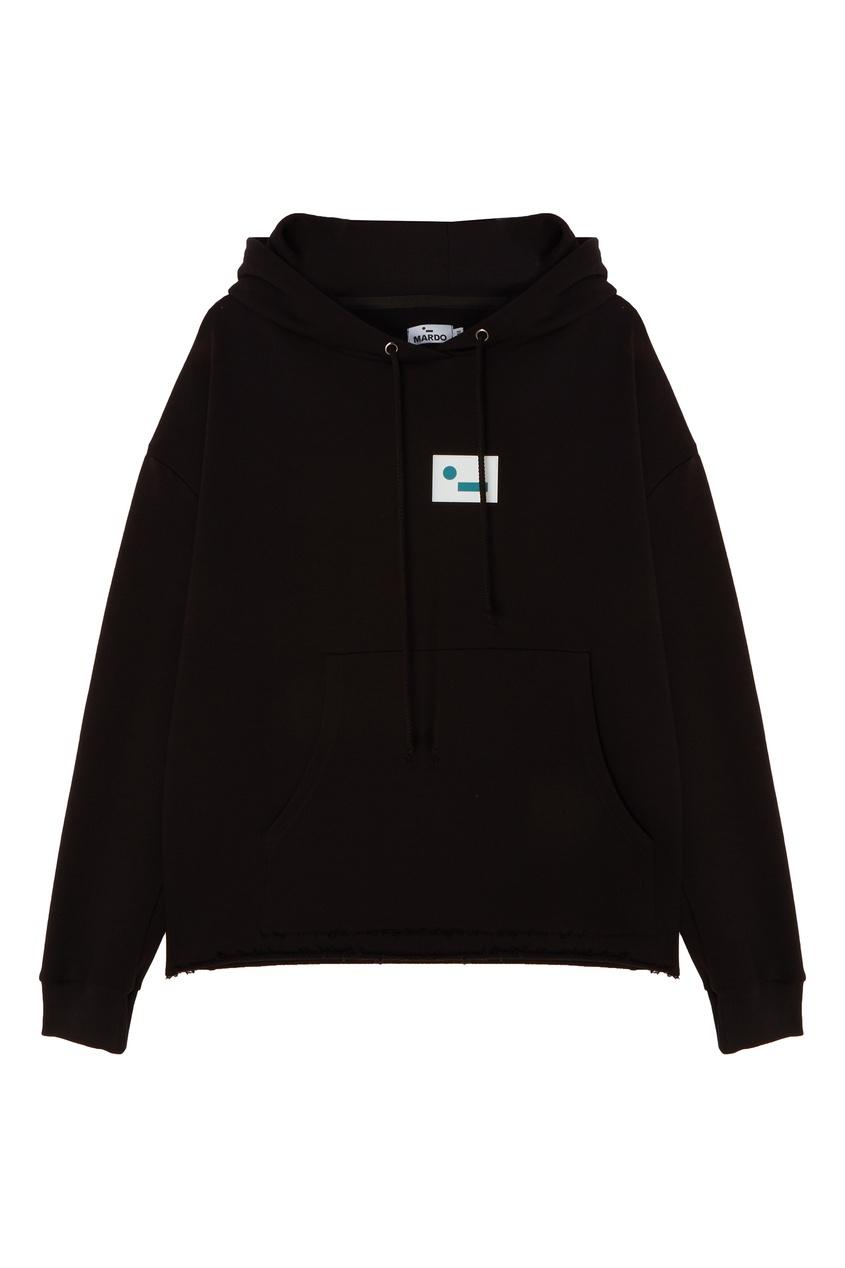 Черное худи с логотипом mardo._