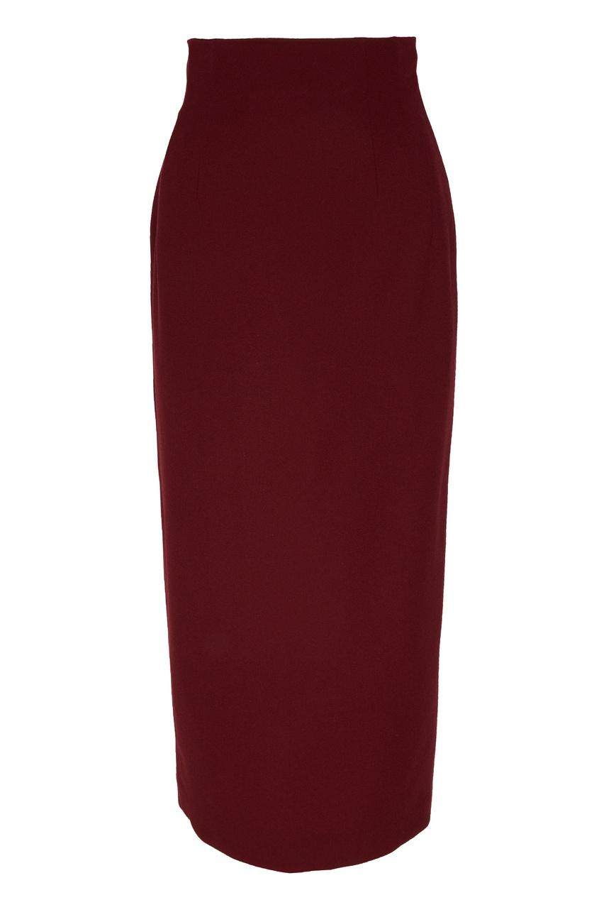 женская юбка ulyana sergeenko, красная