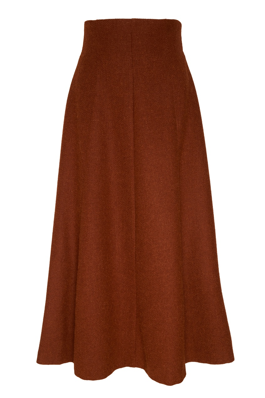 женская юбка ulyana sergeenko, коричневая