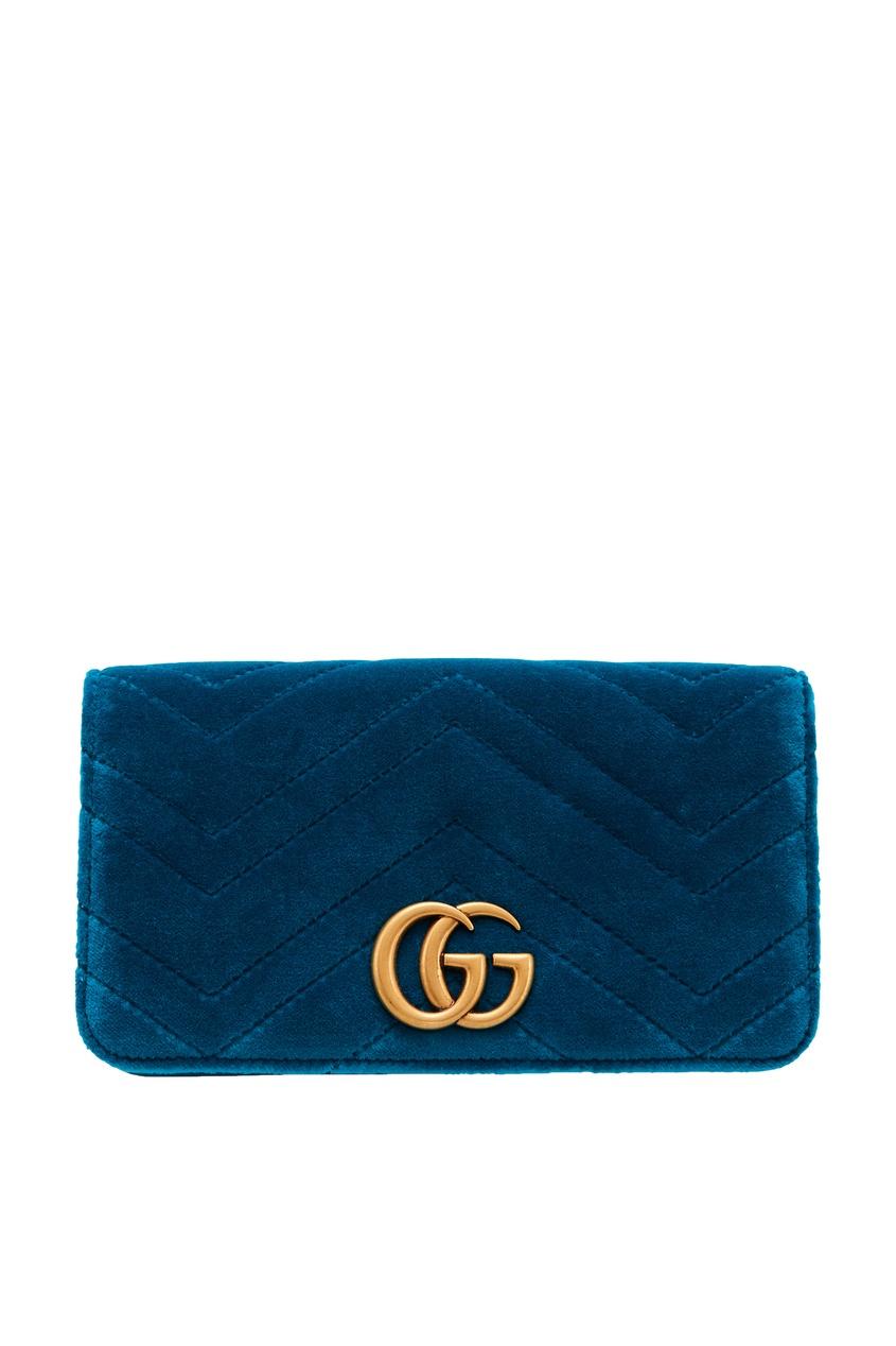 женский кошелёк gucci, голубой