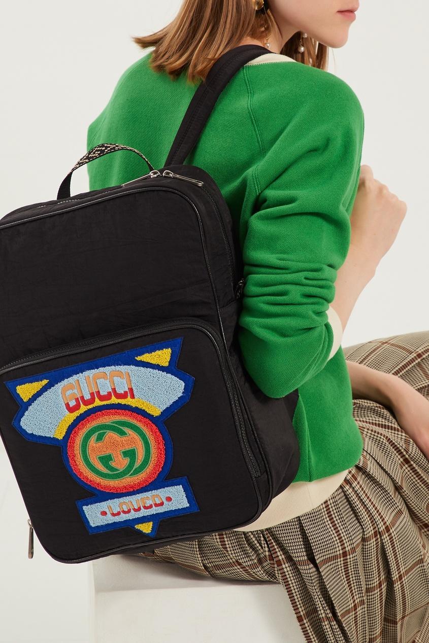 Gucci Черный рюкзак с патчем