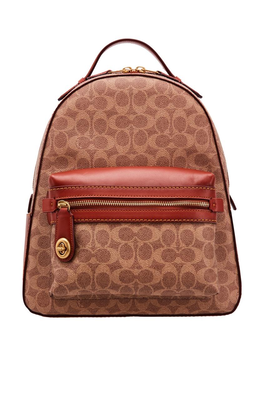 женский рюкзак coach, коричневый