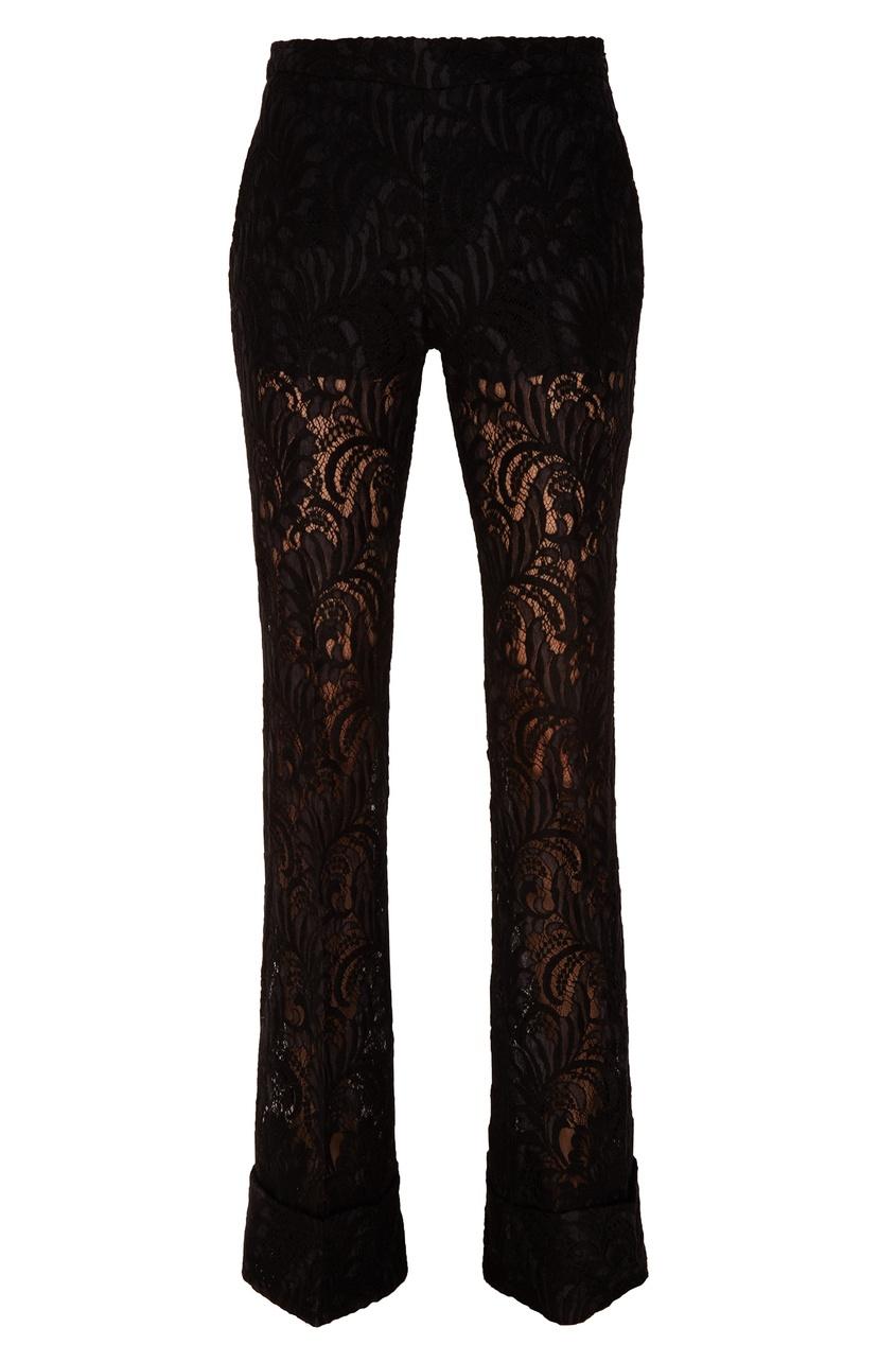 Черные кружевные брюки Stella McCartney