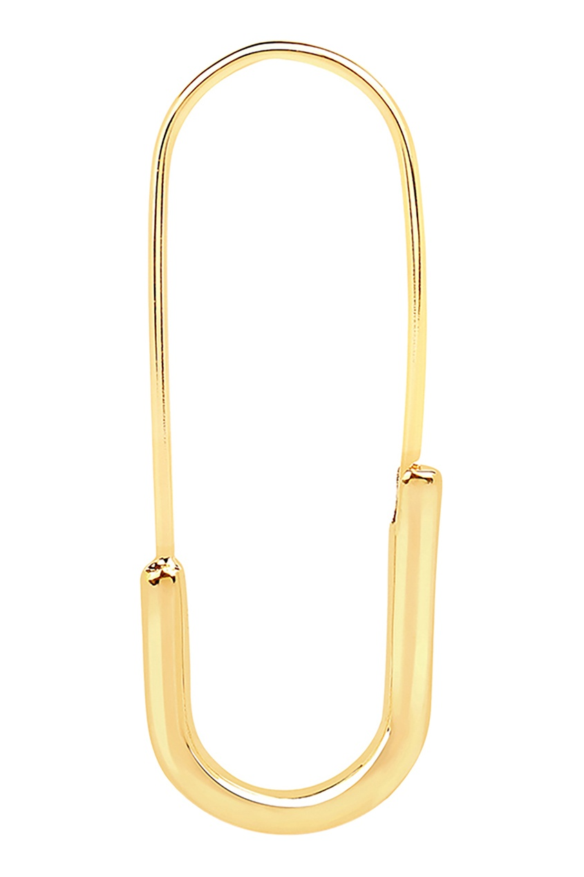Купить Позолоченная моносерьга-булавка из коллекции Stardust от LAV`Z желтого цвета