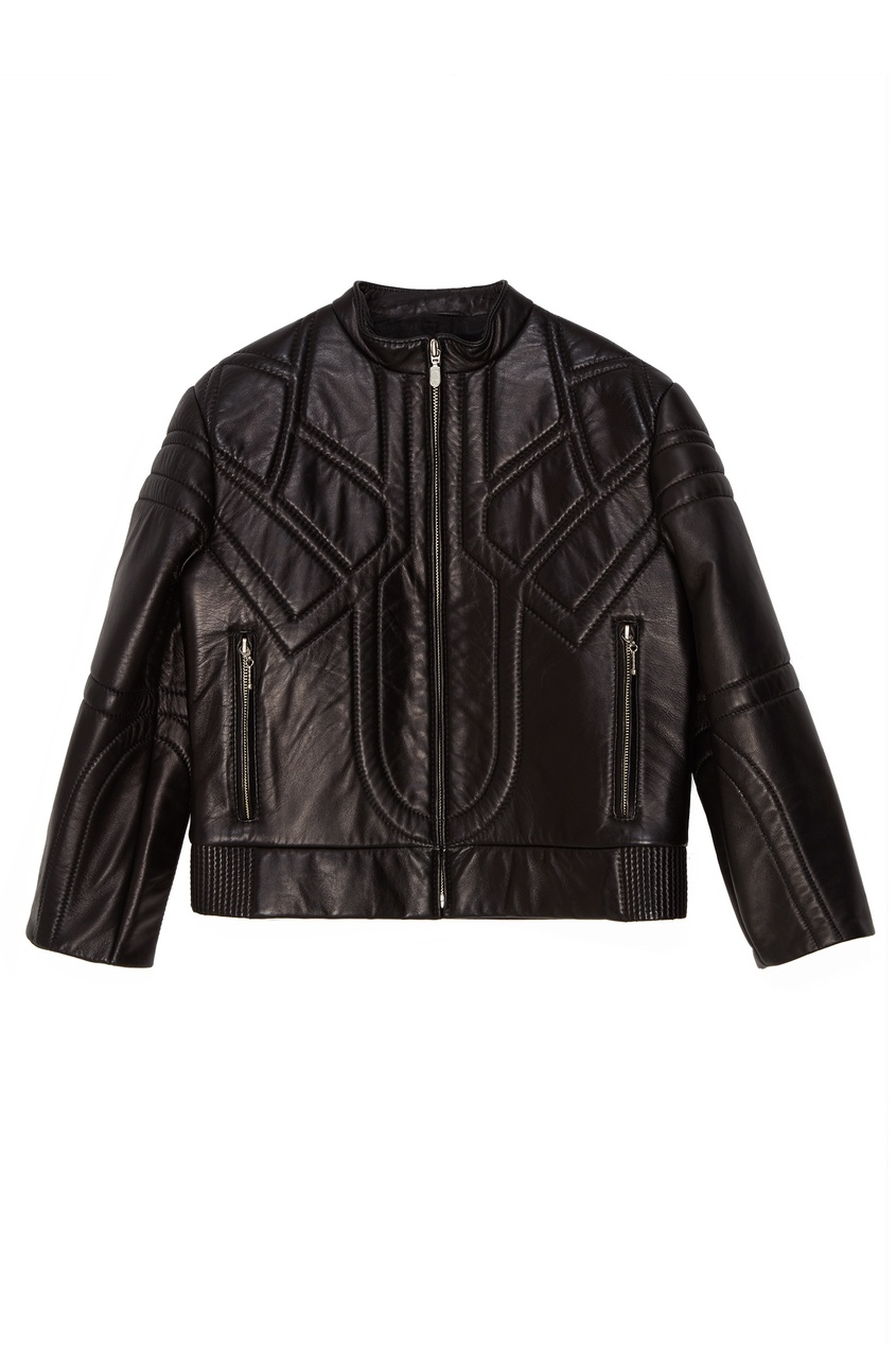 Стеганая кожаная куртка KORTA