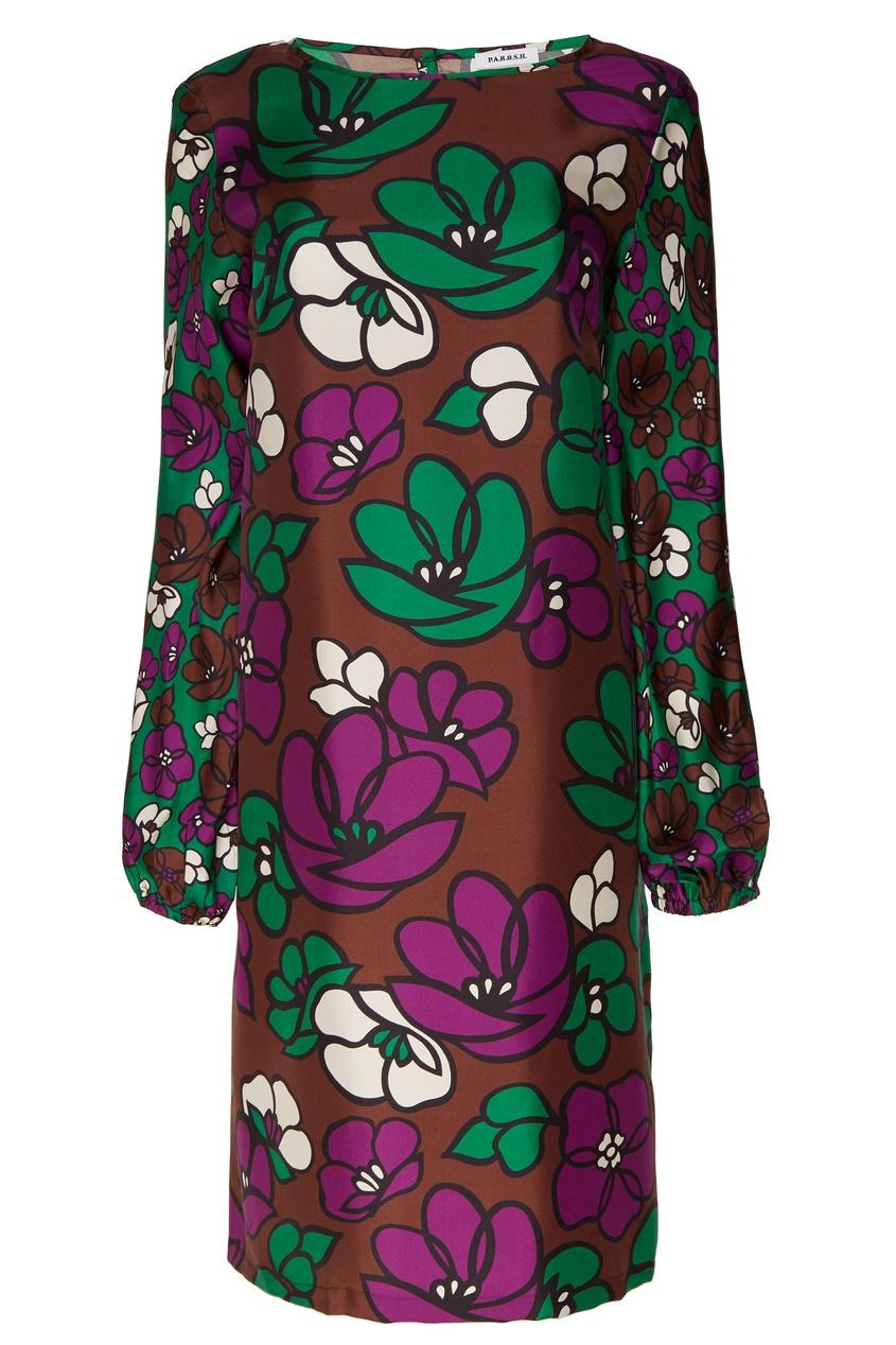 женское платье p.a.r.o.s.h, коричневое