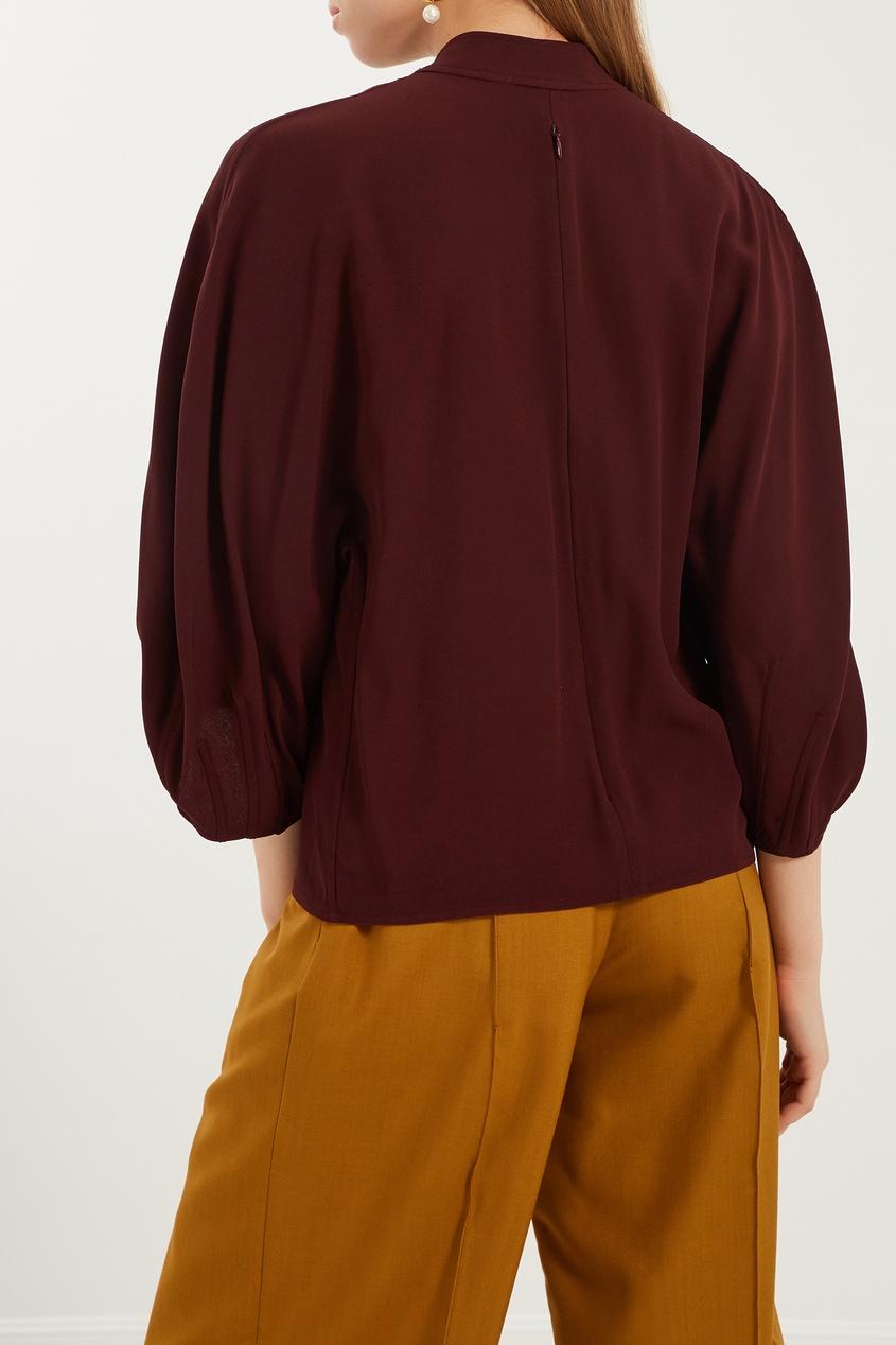 женская блузка marni, красная