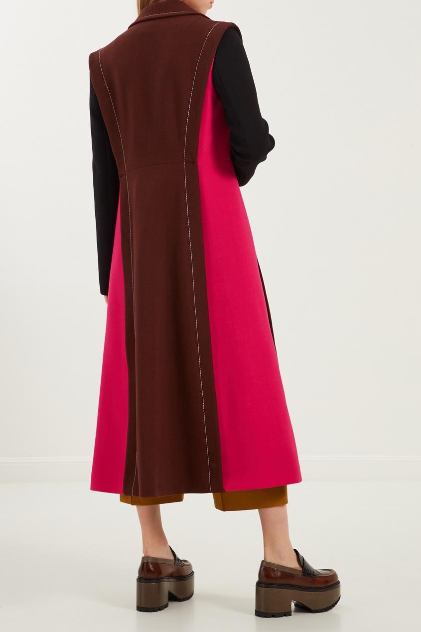 женское пальто marni, коричневое