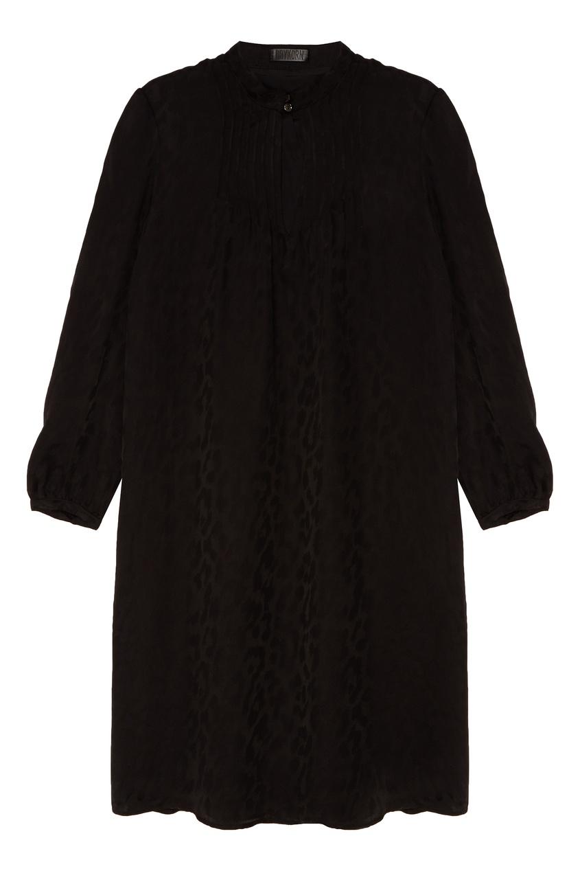 Купить Мини-платье с леопардовым принтом черного цвета
