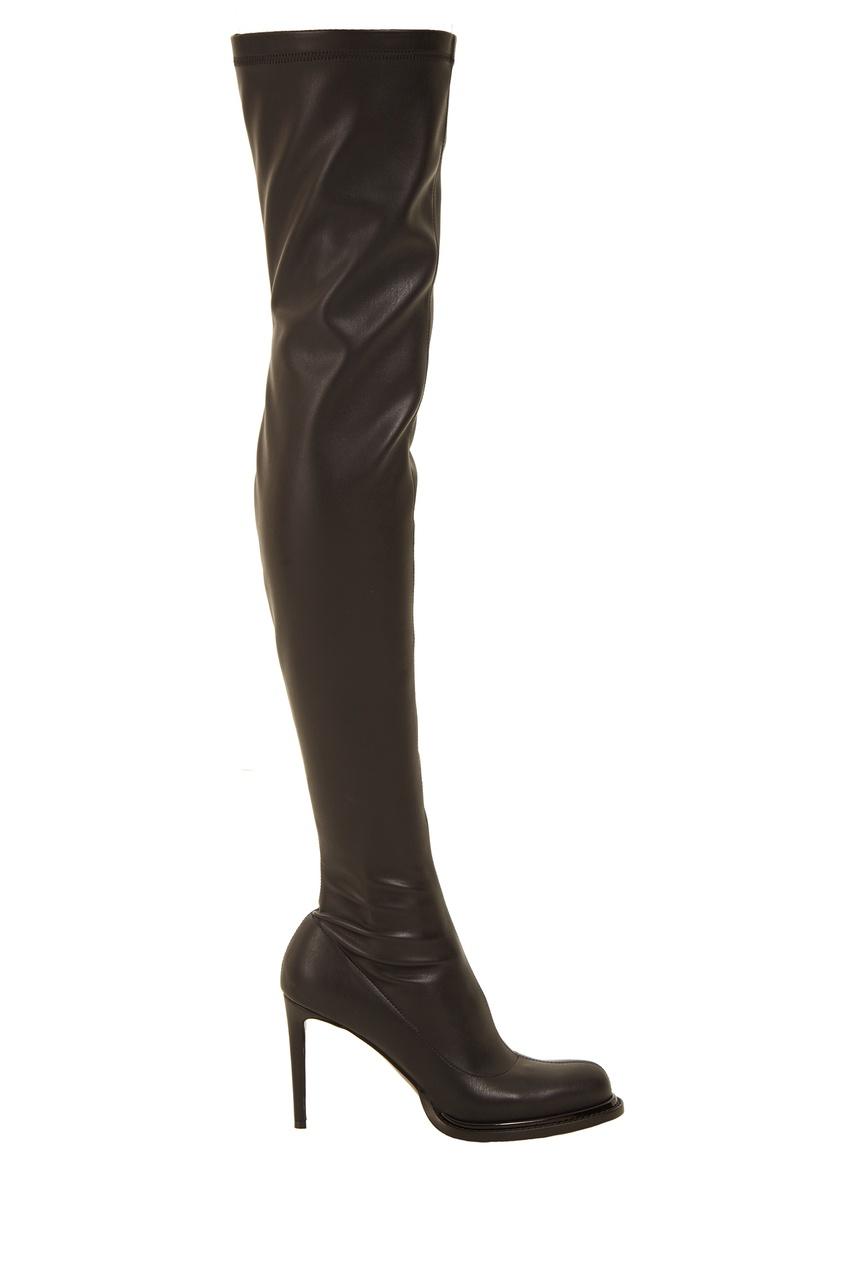 Высокие черные сапоги Stella McCartney
