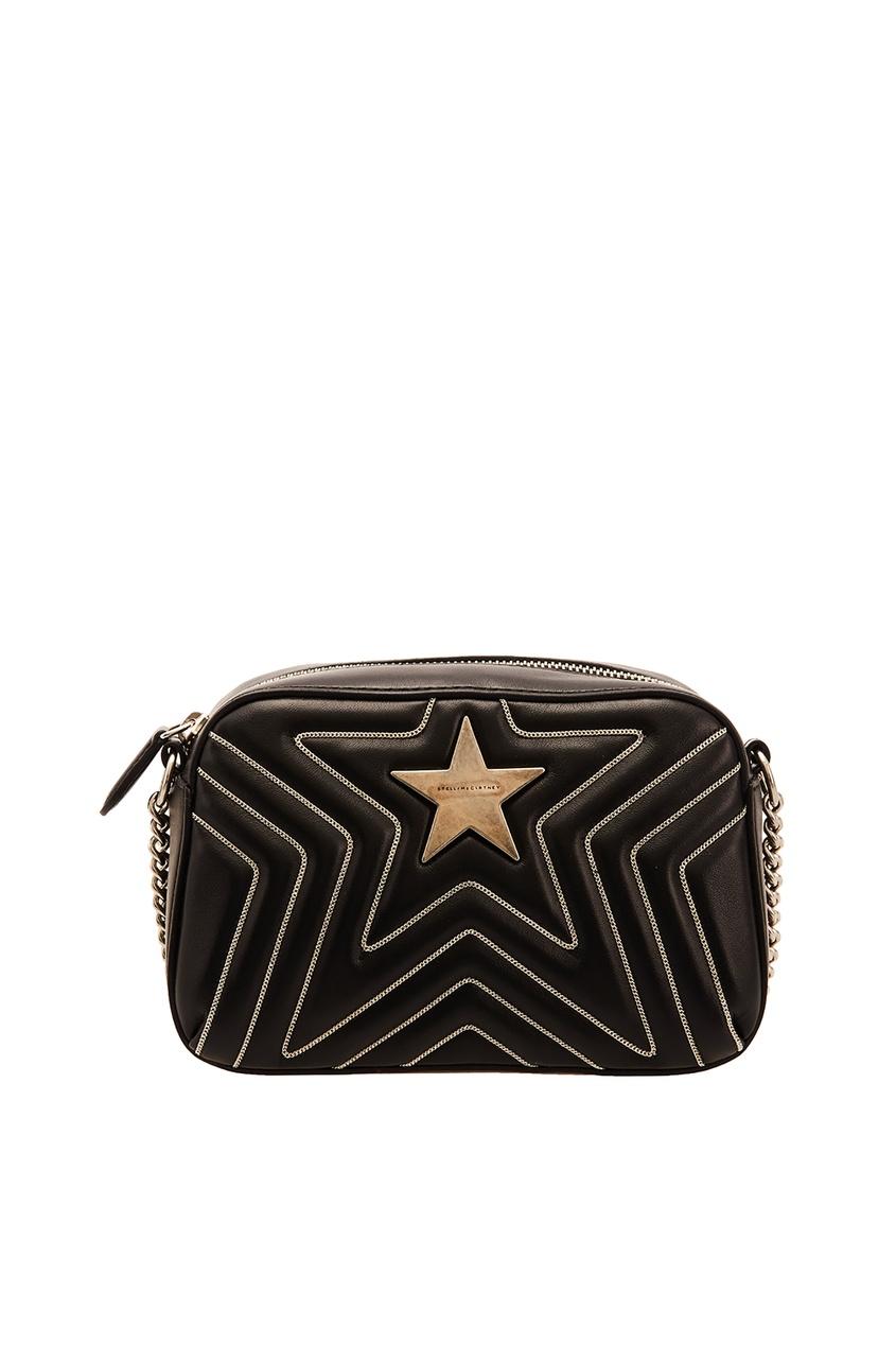 Черная сумка с контрастной отделкой Stella McCartney