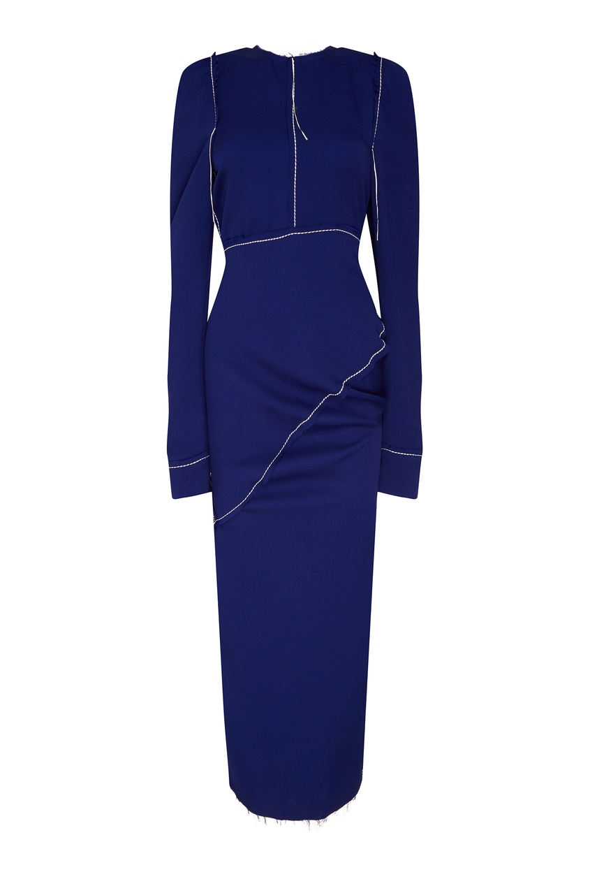 женское платье marni, синее
