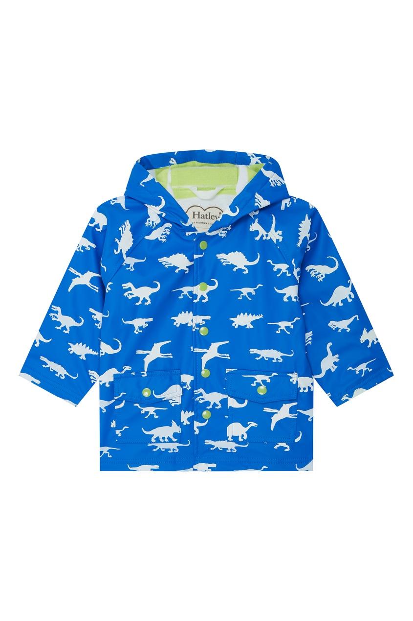 Голубой плащ с динозавриками