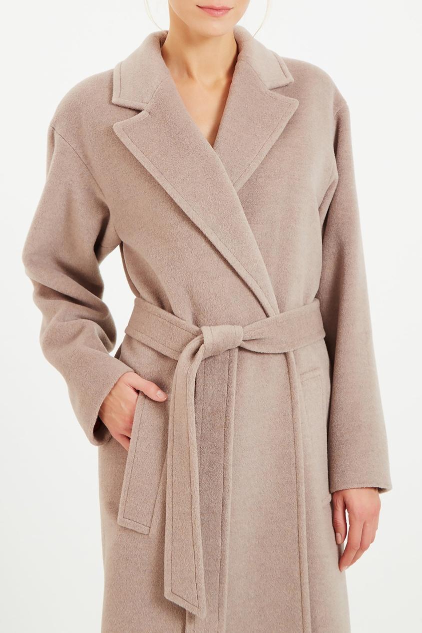 женское пальто a la russe, бежевое