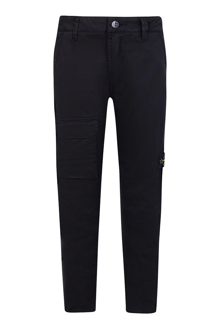 Черные брюки с накладным карманом от Stone Island Kids