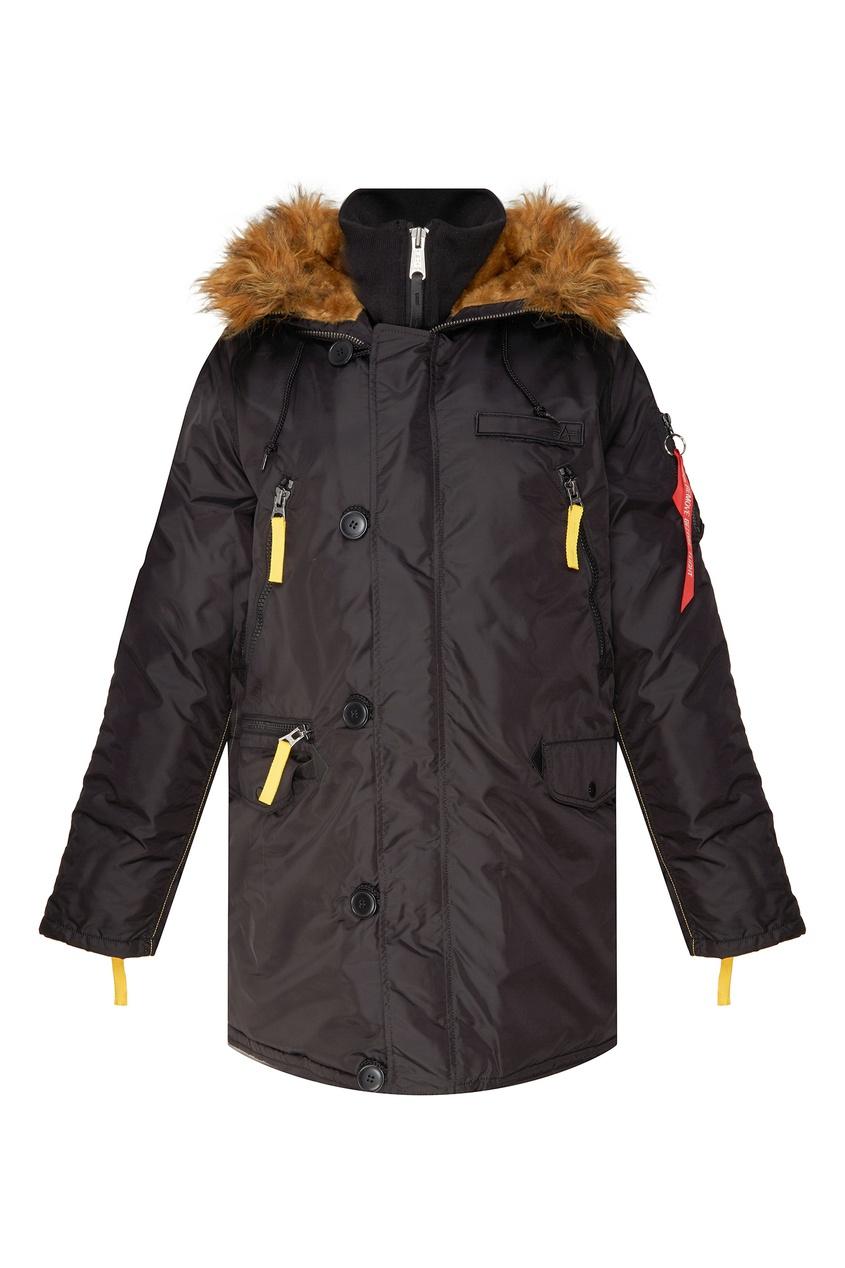 Утепленная черная куртка PPS N3B Alpha Industries 2756101432 черный фото
