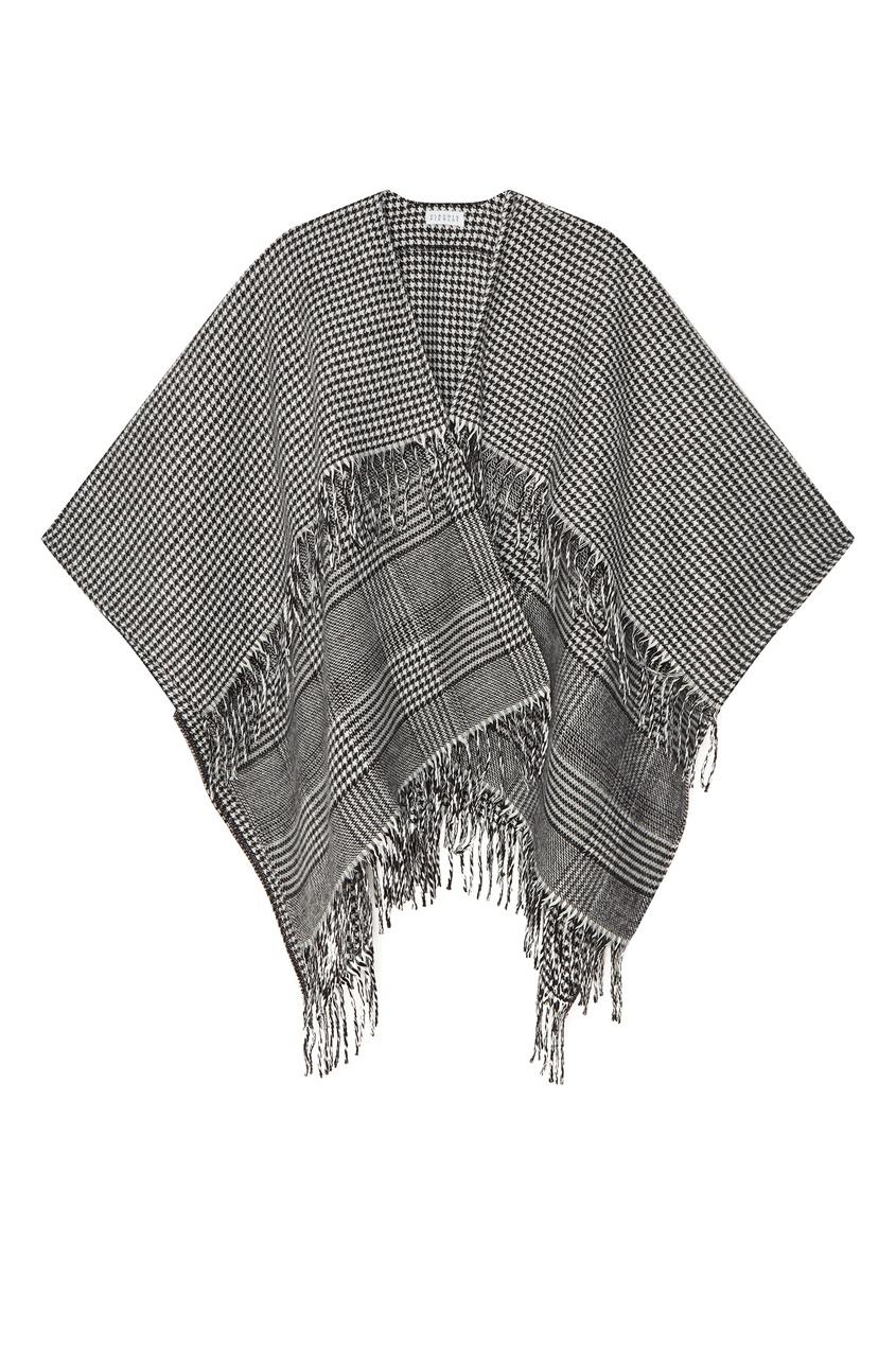 Широкий шарф в клетку Claudie Pierlot