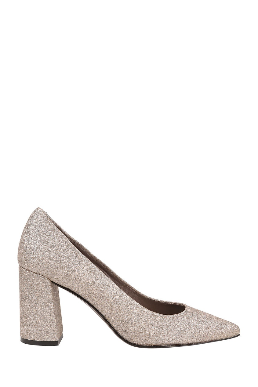 Туфли с золотистым глиттером Pertini