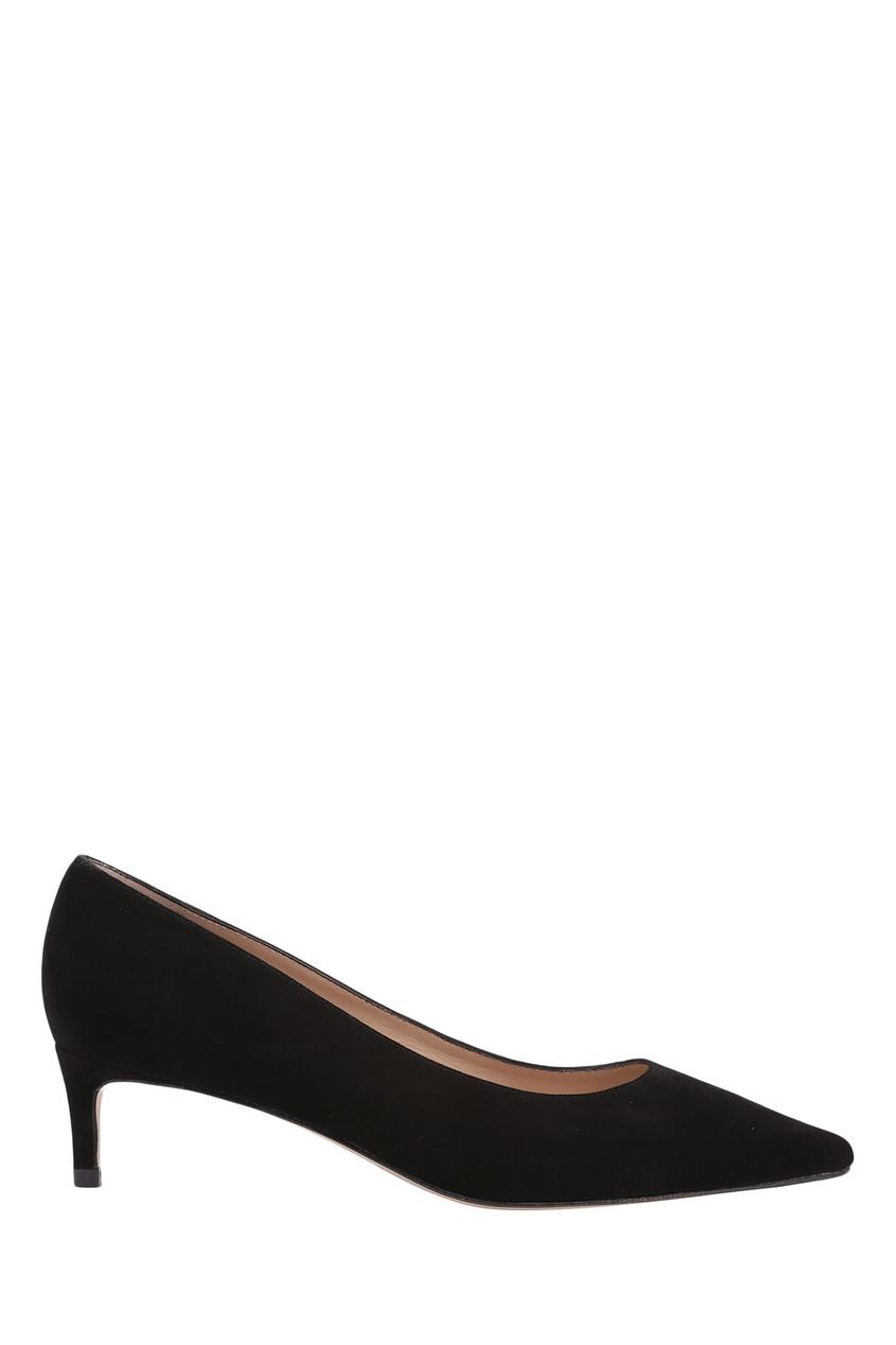 Черные туфли на низком каблуке Leigh 45 Stuart Weitzman