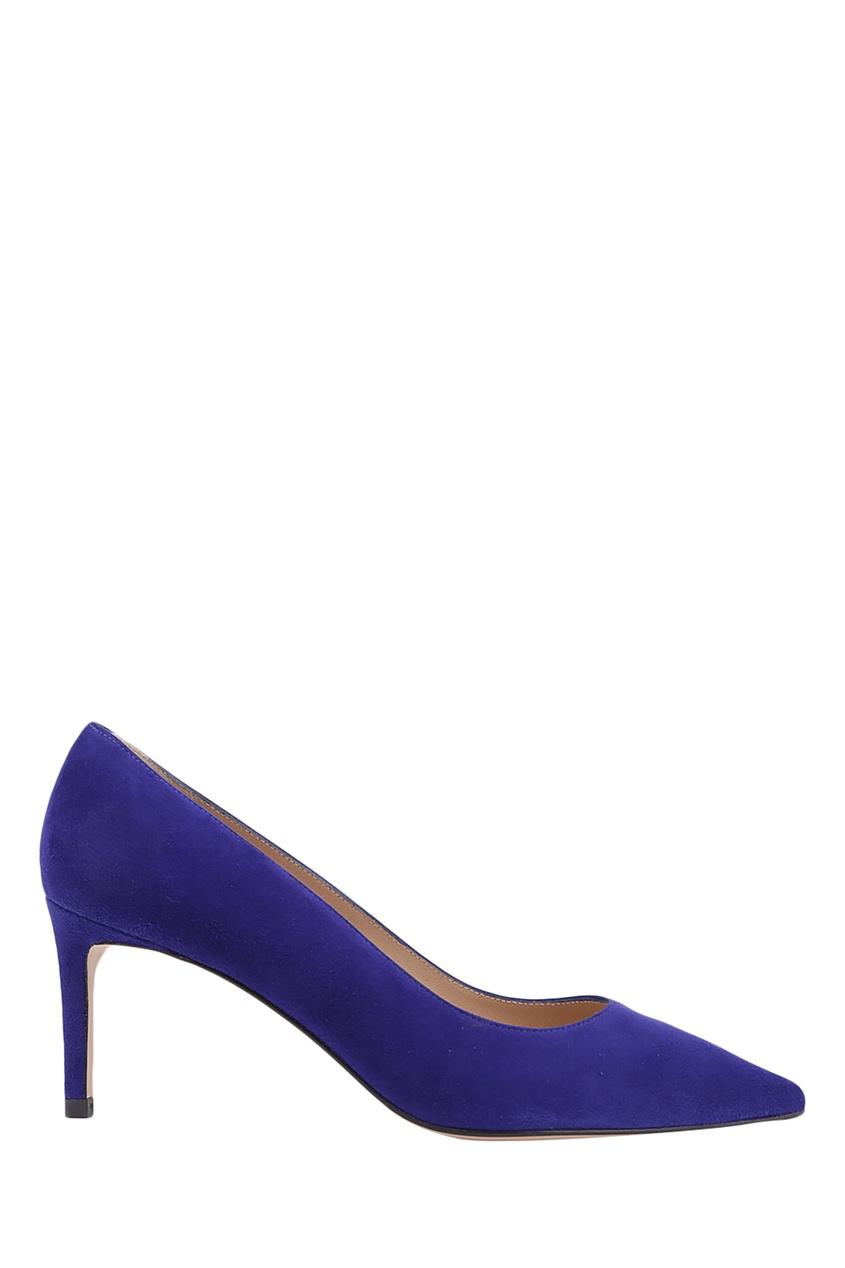 Фиолетовые замшевые туфли Leigh 70 Stuart Weitzman