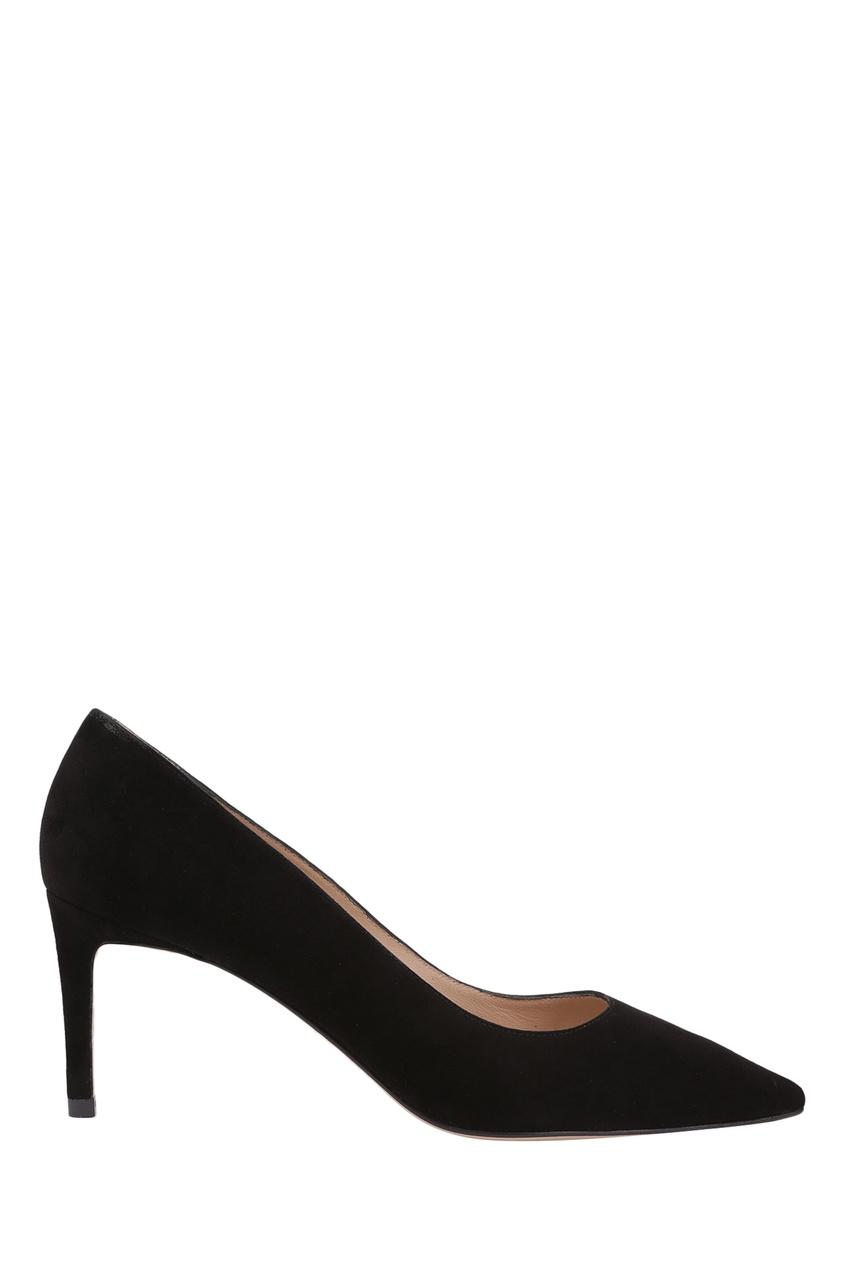 Черные замшевые туфли Leigh 70 Stuart Weitzman