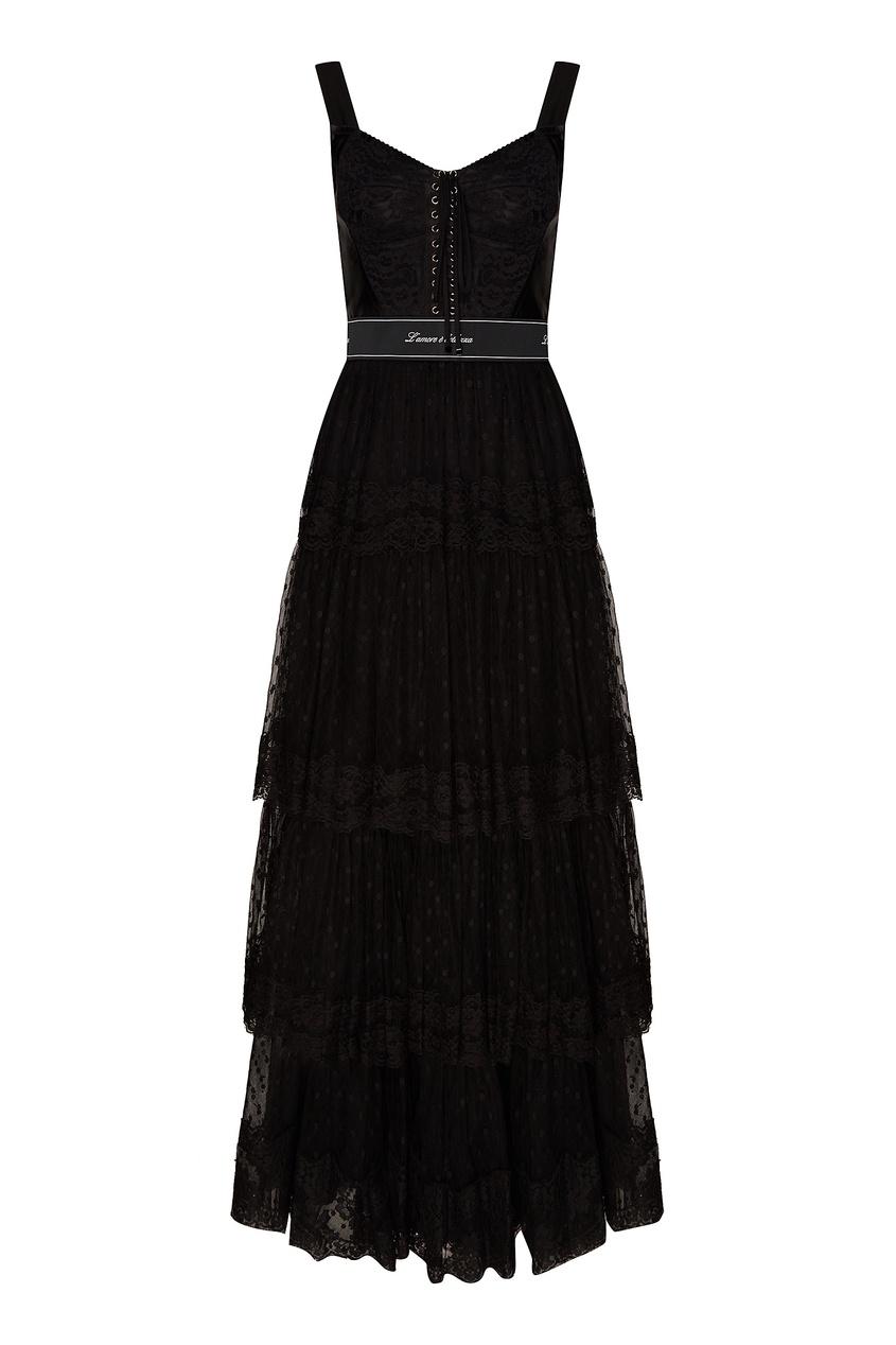 женское платье dolce & gabbana, черное