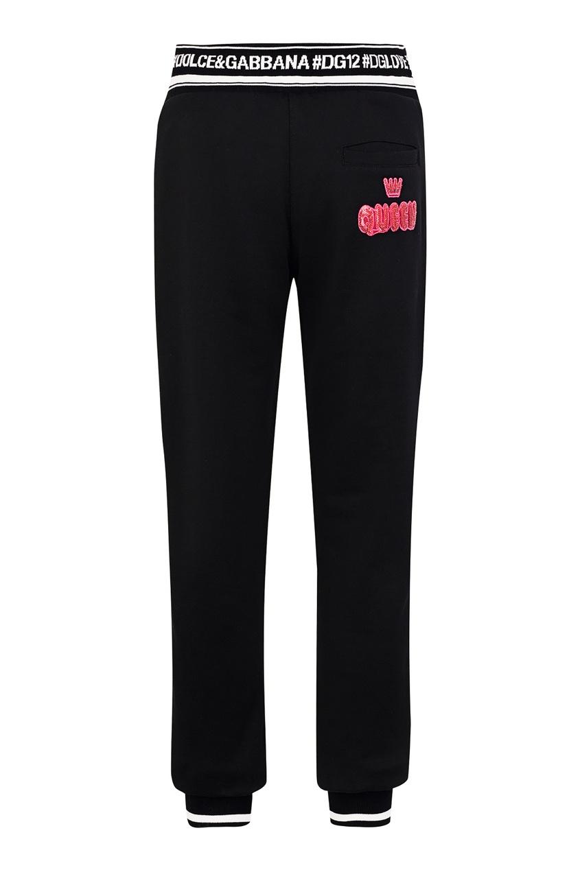 Черные брюки с пайетками