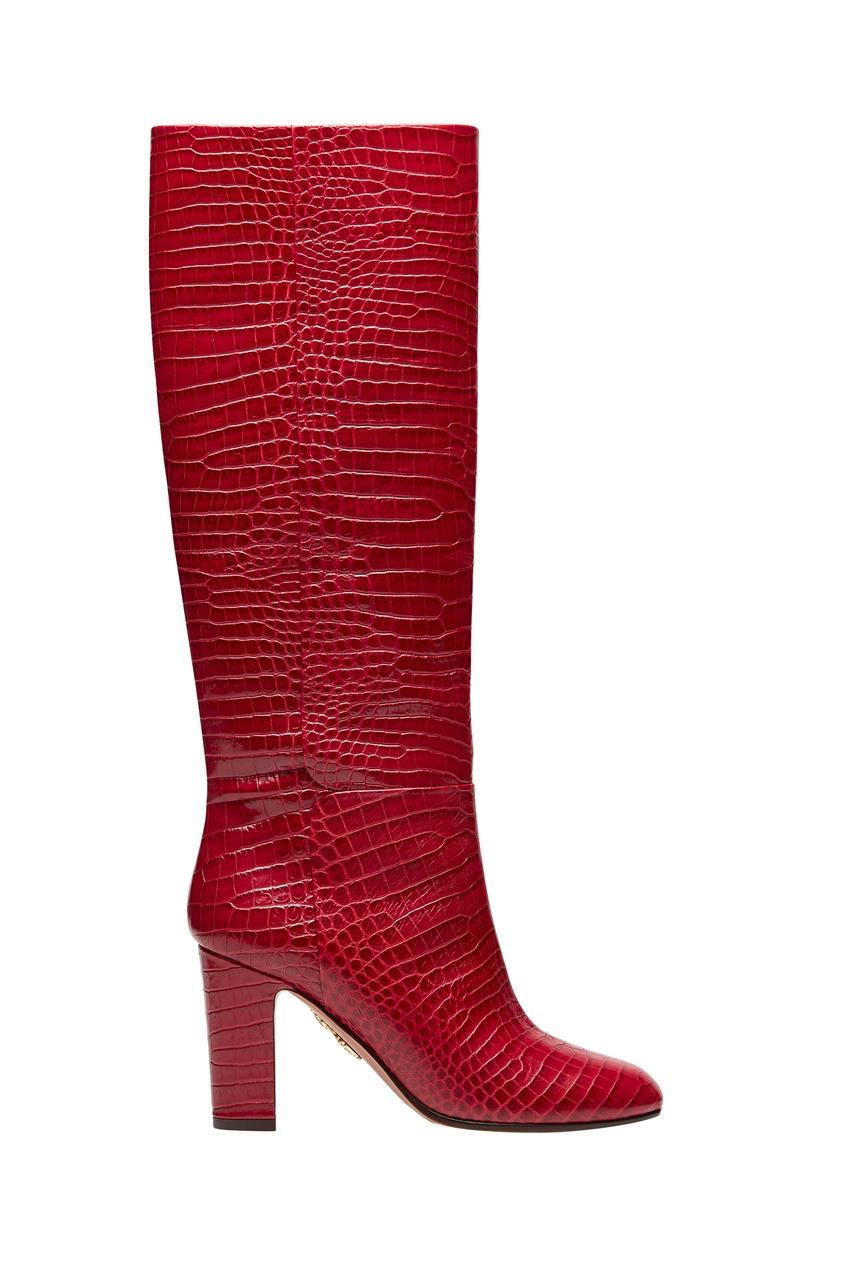 Красные сапоги Brera Boot 85 Aquazzura