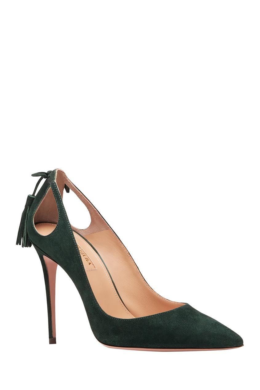 женские туфли aquazzura, зеленые