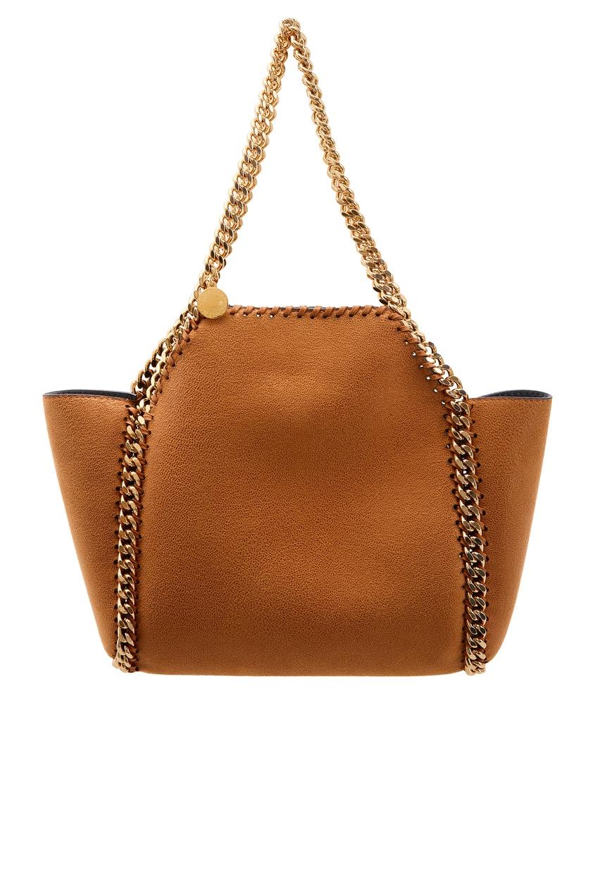 женская сумка stella mccartney, коричневая