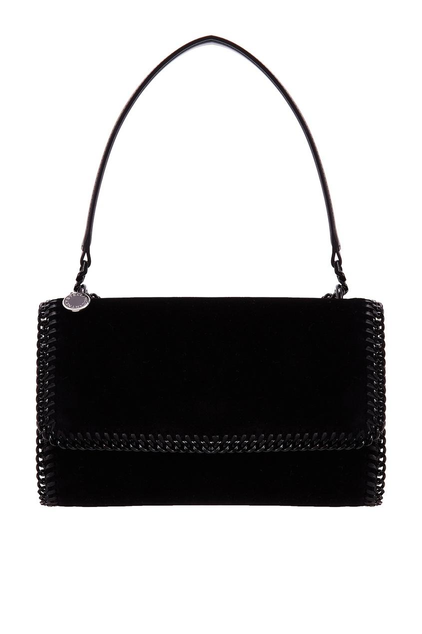 Черная прямоугольная сумка Stella McCartney